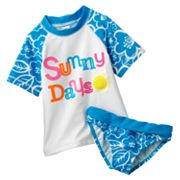 OshKosh B'gosh Sunny Days Floral 2-pc. Rash Guard Set - Girls 4-6x