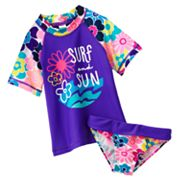 OshKosh B'gosh Surf and Sun Floral 2-pc. Rash Guard Set - Girls 4-6x
