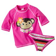 Carter's Monkey Rash Guard Set - Girls 4-6x
