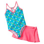 Carter's Dotted One-Piece Swimsuit and Cover-Up Skirt Set - Girls 4-6x
