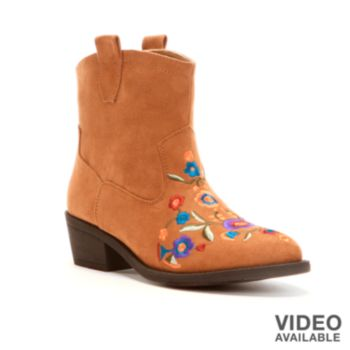 mudd womens western ankle boots 16 78 w fs with kohls