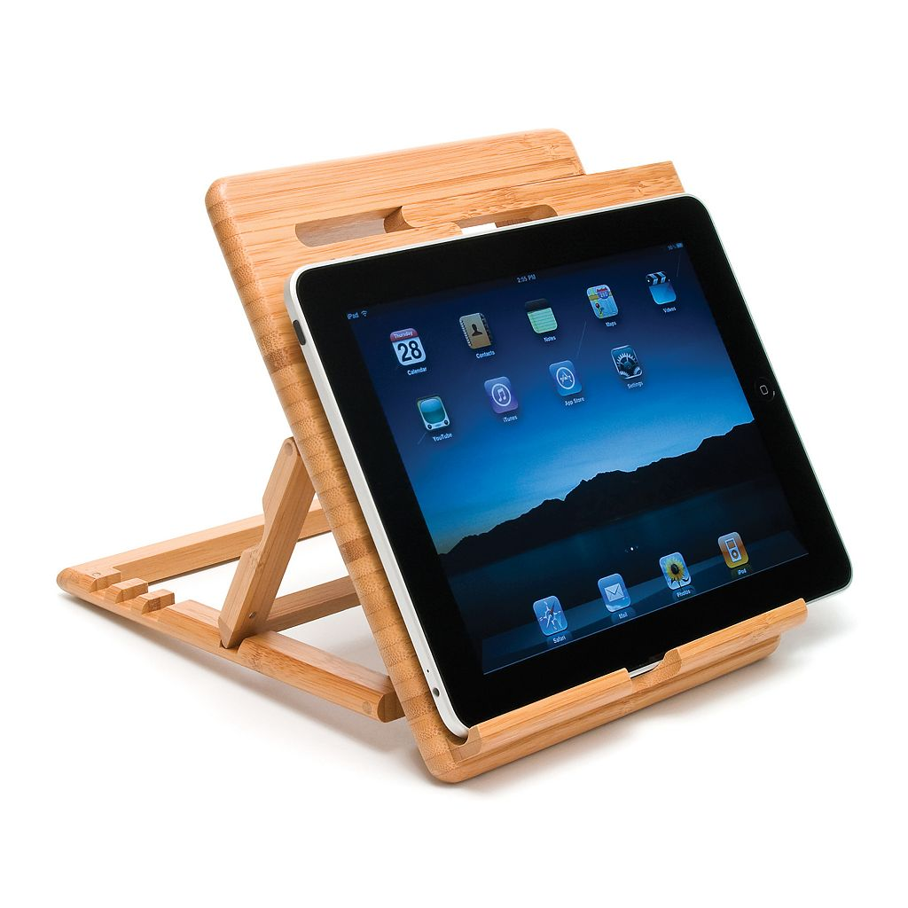 Lipper Bamboo Adjustable iPad Stand