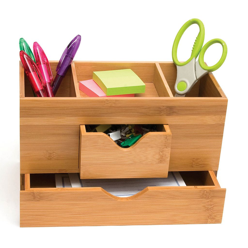 Lipper Bamboo 3-Tier Desk Organizer