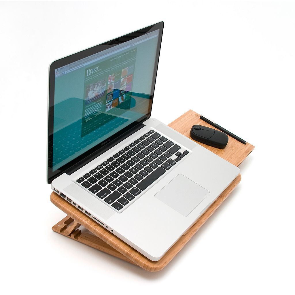 Lipper Bamboo 15-in. Laptop Tray