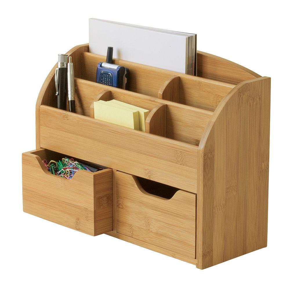 Lipper Bamboo Space Saving Desk Organizer