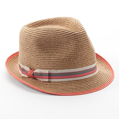 Apt. 9 Ribbon Straw Fedora