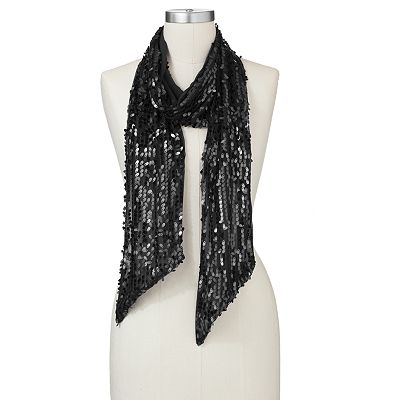 Jennifer Lopez Teardrop Sequin Scarf