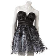 Hailey Logan Glitter Strapless Dress - Juniors