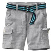 SONOMA life + style Striped Belted Cargo Shorts - Toddler