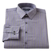 Van Heusen Studio Slim-Fit Striped Point-Collar Dress Shirt