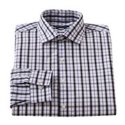 Van Heusen Studio Slim-Fit Checked Point-Collar Dress Shirt