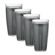 Kraftware Fishnet 4-pc. Double Wall Drinkware Set