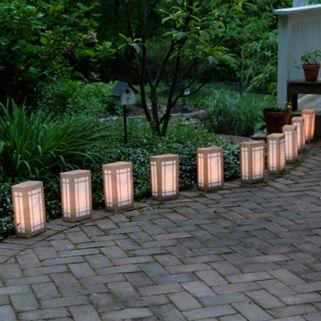 LumaBase 10-pk. Lantern Electric Luminarias with Lumabases