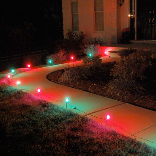 LumaBase Red and Green Pathway Lights