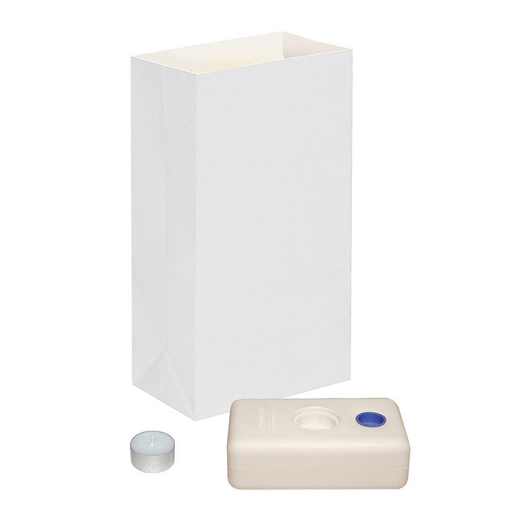 LumaBase 12-pk. White Tealight Candle Luminarias