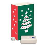 LumaBase 12-pk. Christmas Tree Tealight Candle Luminarias