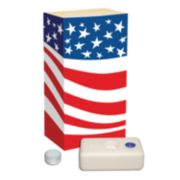 LumaBase 12-pk. Flag Tealight Candle Luminarias