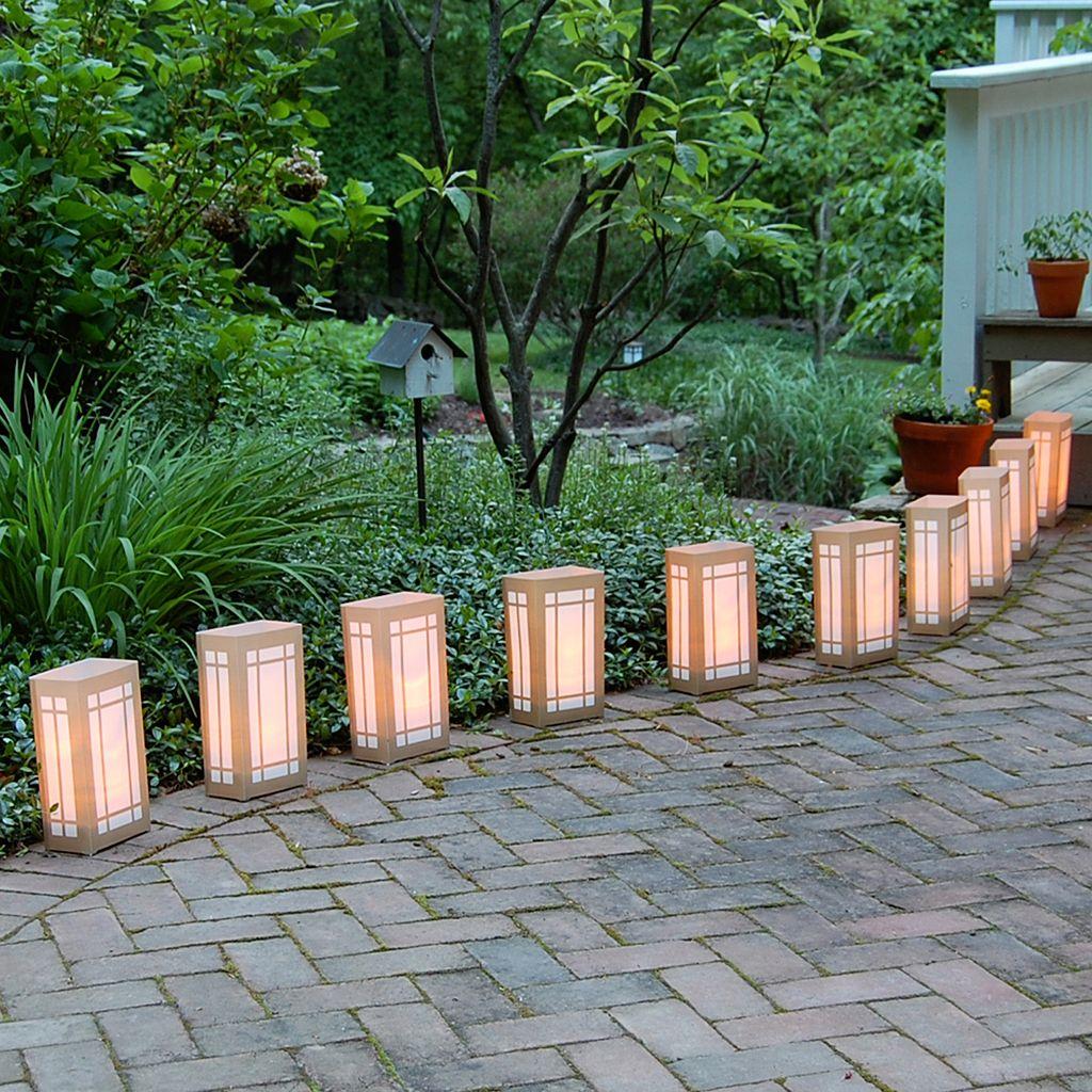 LumaBase 12-pk. Lantern Flameless Tealight Candle Luminarias - Indoor and Outdoor