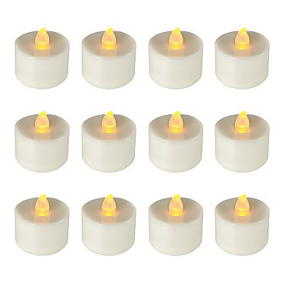 LumaBase 12-pk. Flameless LED Tealight Candles