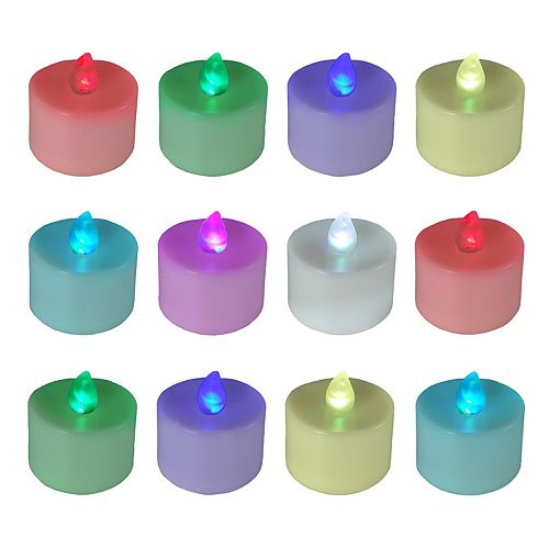 LumaBase 12-pk. LED Color-Changing Tealight Candles