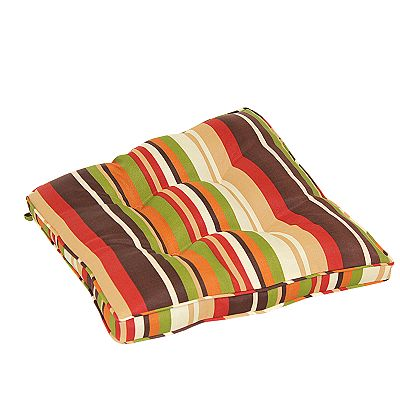 Croft and Barrow Red Stripe Outdoor Chair Pad
