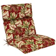 Croft and Barrow Red Palm Outdoor Seat and Back Chair Cushion