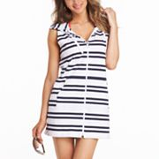 Croft and Barrow Striped Hooded Cover-Up Tunic