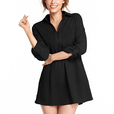 Croft and Barrow Crinkle Cover-Up Tunic