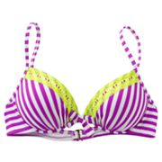 Mudd Striped Push-Up Underwire Bikini Top