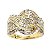 18k Gold Plated 1/2-ct. T.W. Diamond Twist Ring