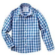 SONOMA life + style Checkered Poplin Button-Down Shirt - Boys 4-7x