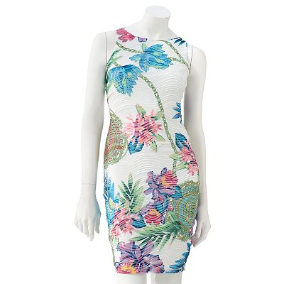 Jennifer Lopez Floral Pintuck Sheath Dress - Petite