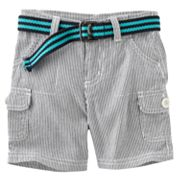 SONOMA life + style Striped Belted Cargo Shorts - Baby