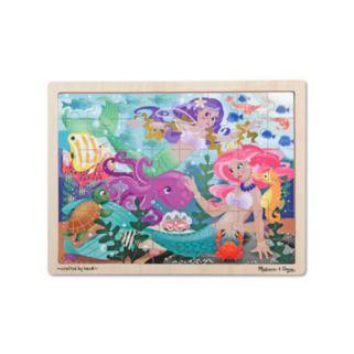 Melissa and Doug Mermaid Fantasea Wooden Jigsaw Puzzle