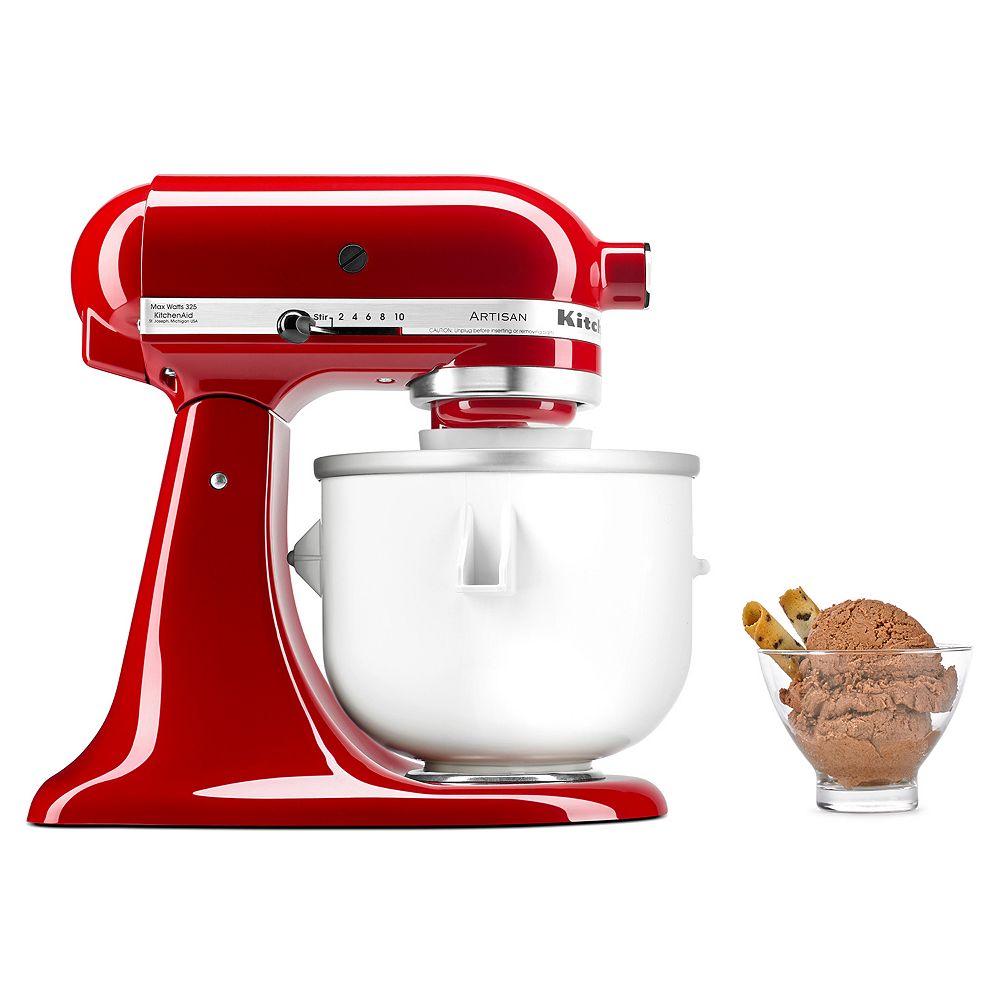 KitchenAid KICA0WH Ice Cream Maker Attachment on kitchen aid pasta, kitchen aid barbecue, kitchen aid food, kitchen aid meringue, kitchen aid red,