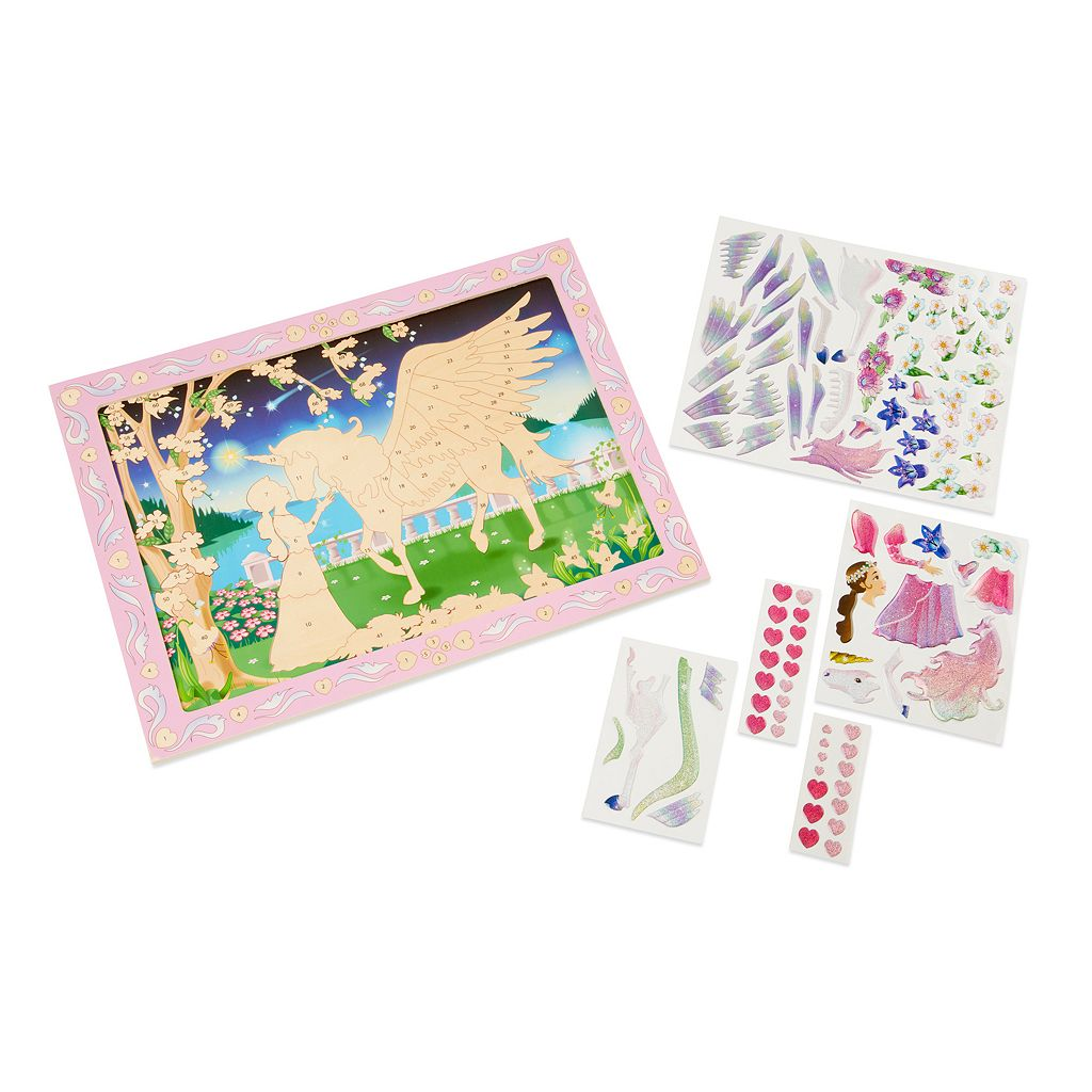 Melissa and Doug Peel and Press Sticker by Numbers Mystical Unicorn