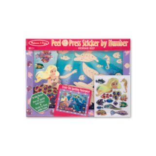 Melissa and Doug Peel and Press Sticker by Numbers Mermaid Reef