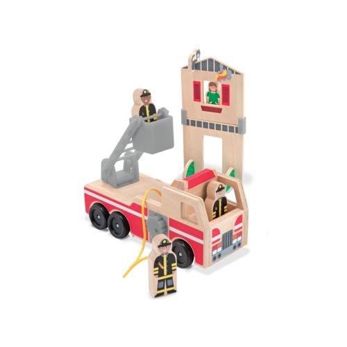 Melissa and Doug Whittle World Wooden Fire Rescue 7-pc. Set