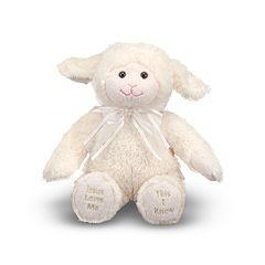 Melissa & Doug 'Jesus Loves Me' Lamb Plush Toy