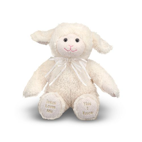 """Melissa & Doug """"Jesus Loves Me"""" Lamb Plush Toy"""