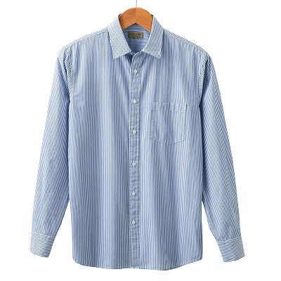 SONOMA life + style Striped Poplin Casual Button-Down Shirt