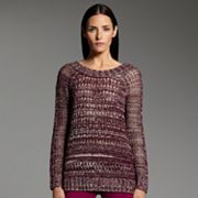 Narciso Rodriguez for DesigNation Marled Open-Work Sweater