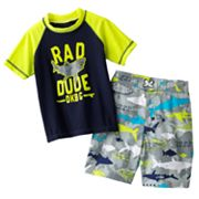 OshKosh B'gosh Rad Dude Rash Guard and Swim Trunks Set - Boys 4-7