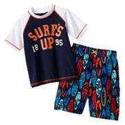 OshKosh B'gosh Surf's Up Rash Guard and Swim Trunks Set - Boys 4-7