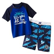 OshKosh B'gosh Big Wave Rash Guard and Swim Trunks Set - Boys 4-7