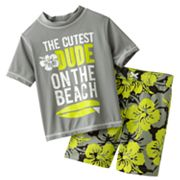 Carter's Cutest Dude 2-pc. Rash Guard Set - Boys 4-7