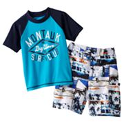 OshKosh B'gosh Montauk Rash Guard and Swim Trunks Set - Boys 4-7