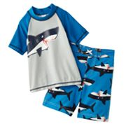 Carter's Shark 2-pc. Rash Guard Set - Boys 4-7