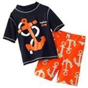 Carter's Anchor 2-pc. Rash Guard Set - Boys 4-7