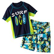 OshKosh B'gosh Surf Rash Guard and Swim Trunks Set - Boys 4-7